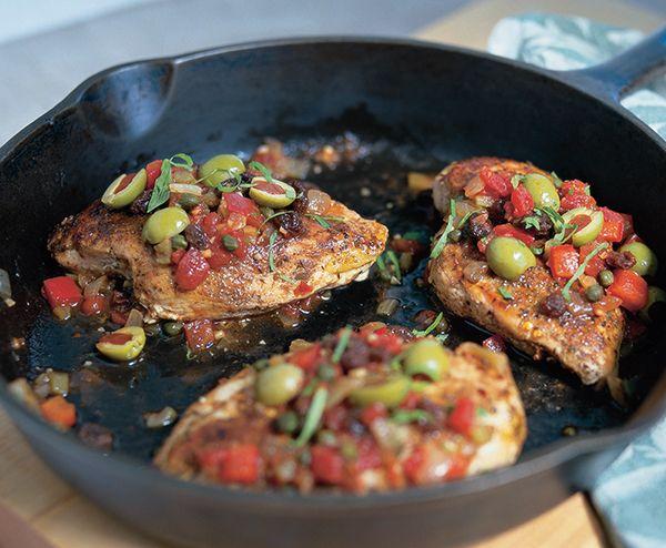 Nuevo Cubano Chicken with Spanish Olive Picadillo Salsa | Lindsay