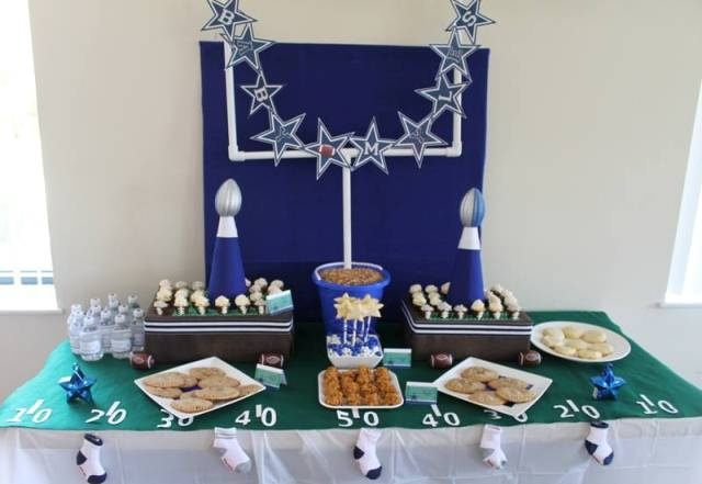 Football & Dallas Cowboy Dessert Table