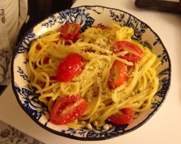 Gluten free garlic pasta