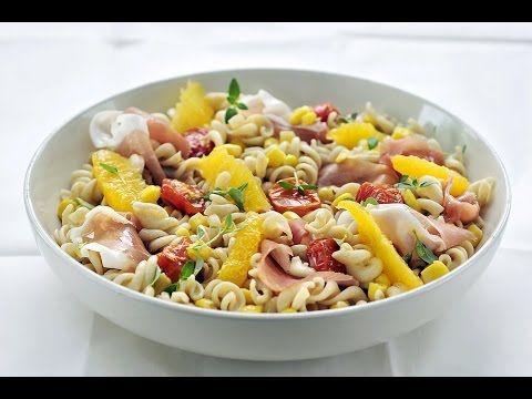 Recept 'Koude pastasalade met perziken'   njam!