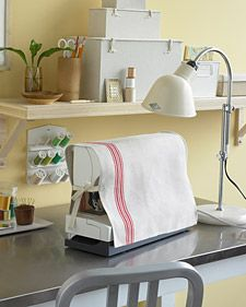 Simple Sewing Machine Cover: Sewing Machines, Teatowel, Sewing Projects, Teas Towels, Tea Towels, Martha Stewart, Sewing Machine Covers, Dishes Towels, Crafts