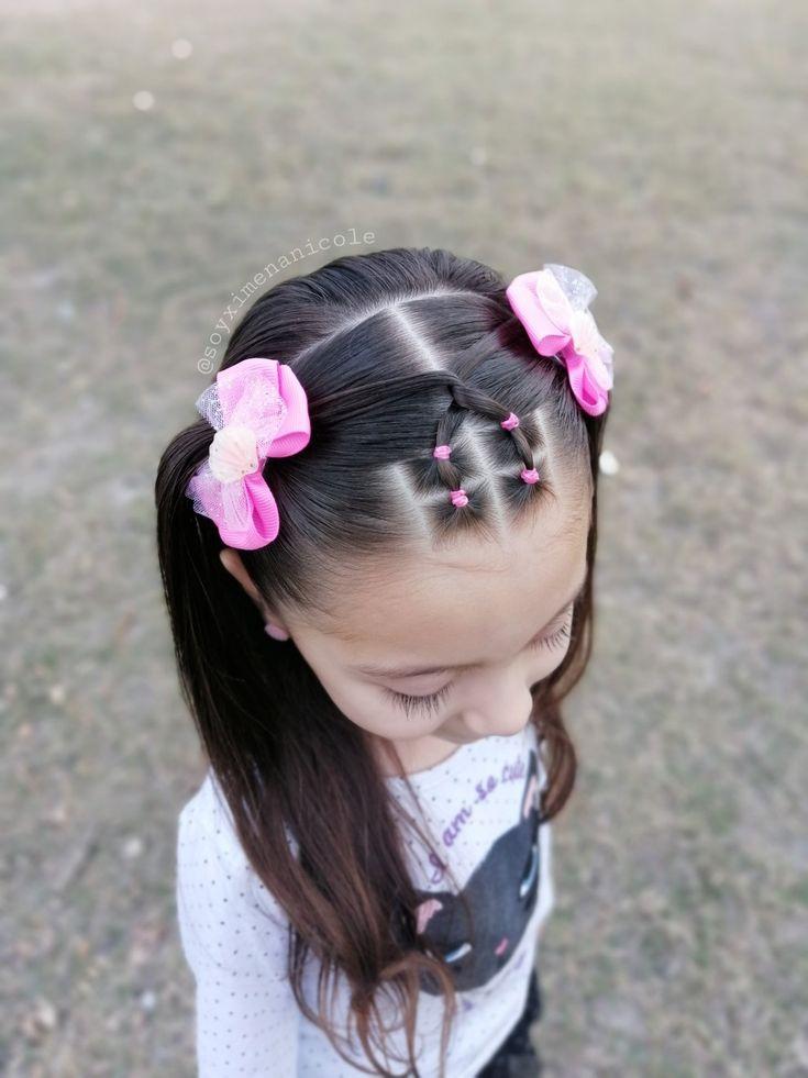 Сharming peinados bebe niña Colección de estilo de color de pelo - Peinados para niña   Work hairstyles, Girls school ...