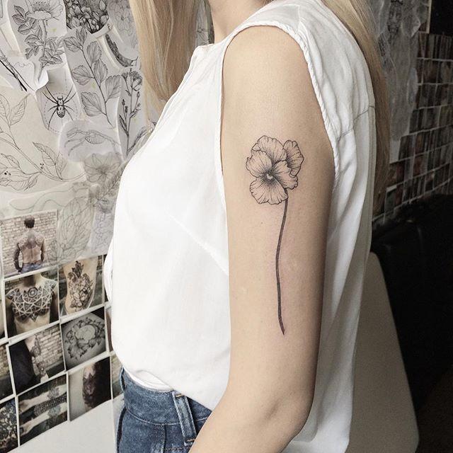 the 25 best violet flower tattoos ideas on pinterest. Black Bedroom Furniture Sets. Home Design Ideas