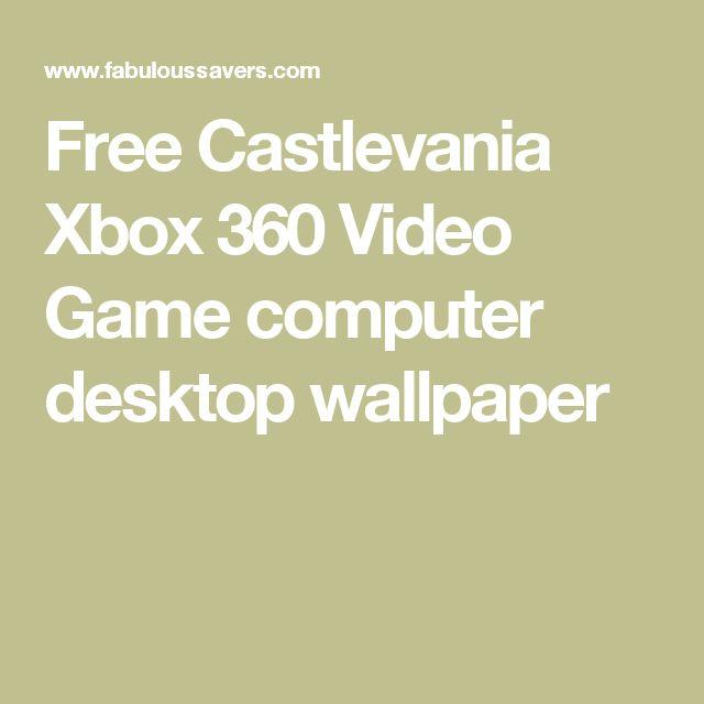 Free Castlevania Xbox 360 Video Game computer desktop wallpaper