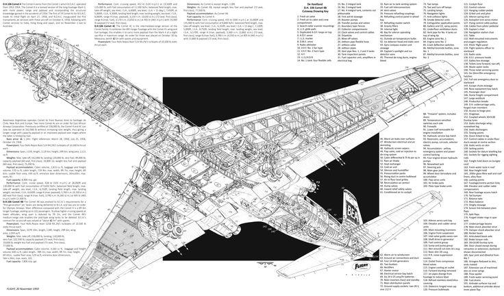 de havilland dh 106 comet 4 cutaway by arthur bowbeer. Black Bedroom Furniture Sets. Home Design Ideas