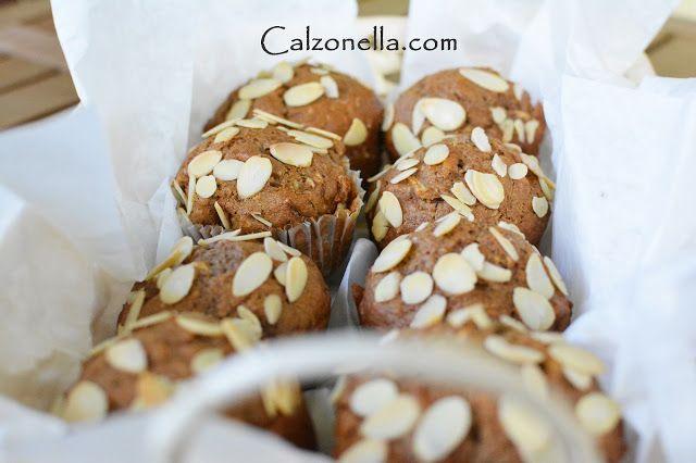 muffiny razowe z jabłkami, cynamonem i kruszonką