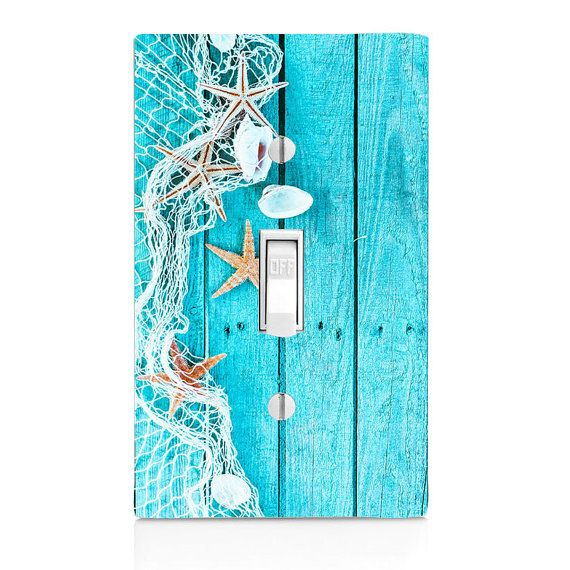 Light Switch Cover  Starfish Seaside by SwitchCoverSupply on Etsy
