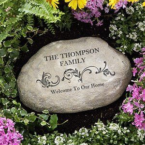 Personalized Garden Stones   This Site Has Some Great Gardening Gifts! LOVE  How This Stone Is Personalized   Great Gift Idea For Any Garden Lovers!