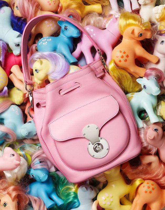 Still Life Product Photography, Stylist Magazine, Fashion accessories, pink, handbag, my little pony, Retro toys