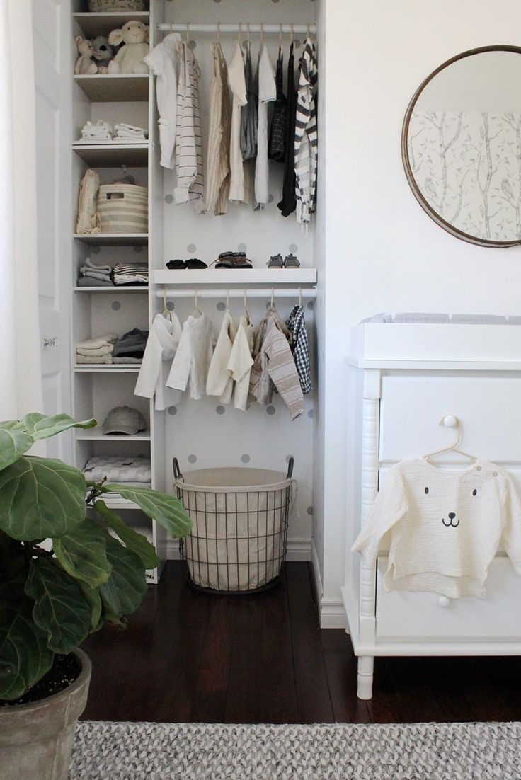 Organized Nursery Closet - Project Nursery