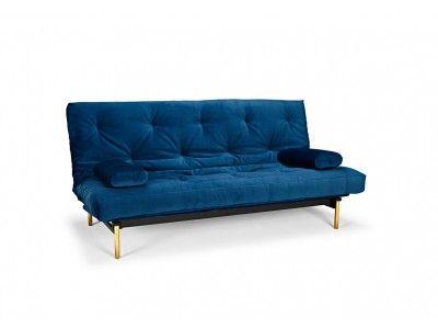 Frigga sofa bed has brass legs