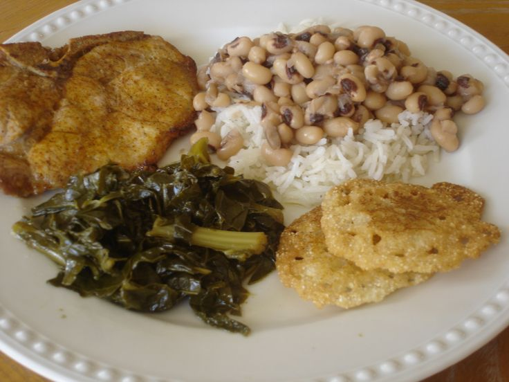 Traditional Southern New Year's Day Menu