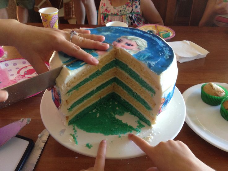 Six layered Frozen birthday cake I made recently  for a special 5 year old!!