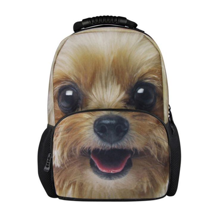 Best School Backpacks Pattern for Teen Boys Personalized Animal Dog Printing Bookbags Wolf Tiger Back Pack for College Students