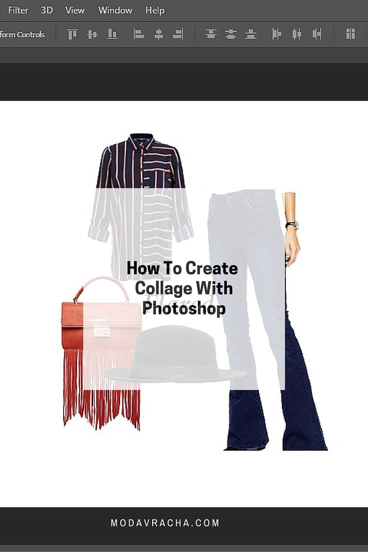 How to create collage using photoshop