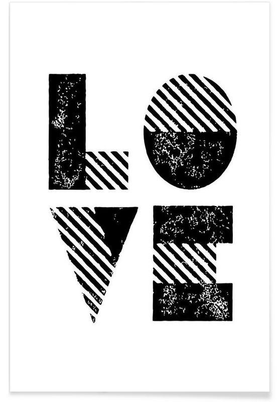 Love en Affiche premium par THE MOTIVATED TYPE   JUNIQE