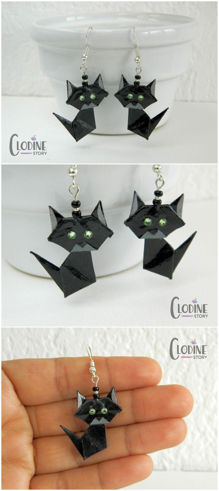 The 25 best origami eye ideas on pinterest geometric origami black cat origami earrings black origami cat black cat cat jewelry origami jeuxipadfo Choice Image