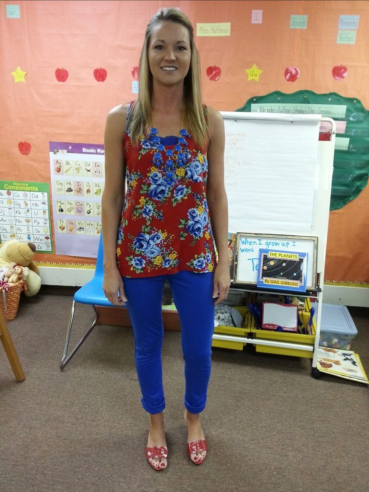 Teacher Clothing. Every day of the school year she pinned her outfit! Cute...but not sure how this is affordable on a teacher salary to have so many different outfits.