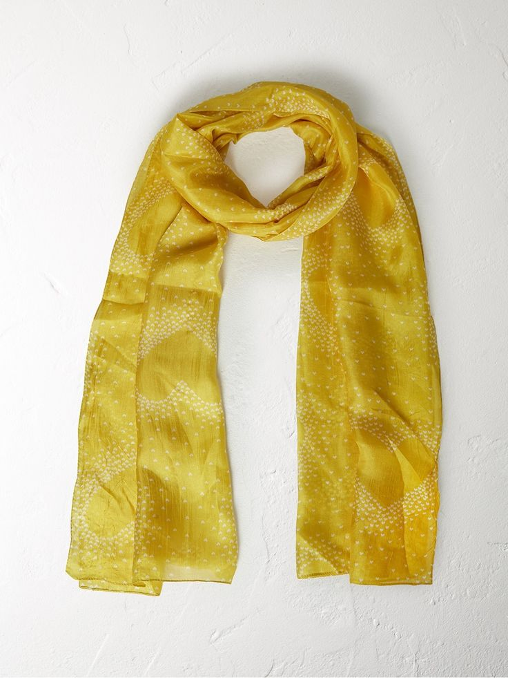 Silk heart scarf
