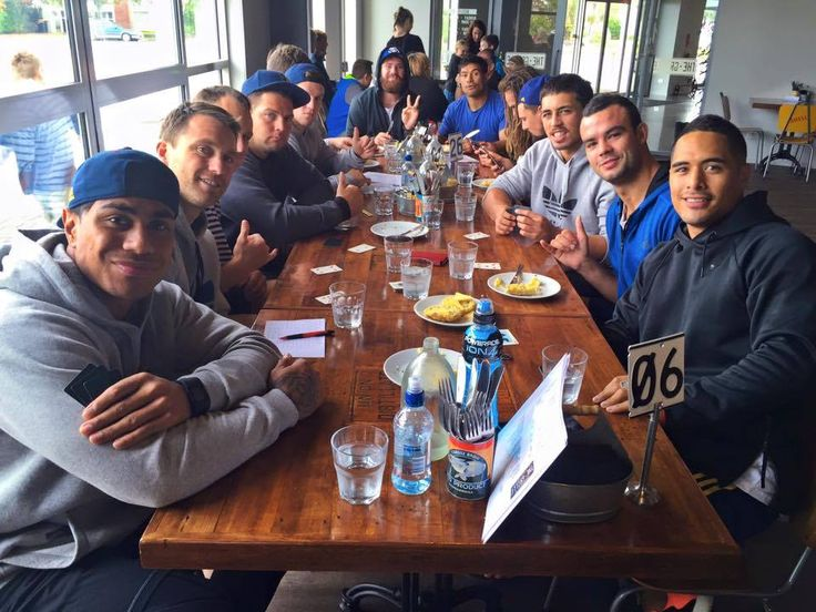 Landers Boys out for a coffee and green tea before preparing for our Game tonight. #GameDay.