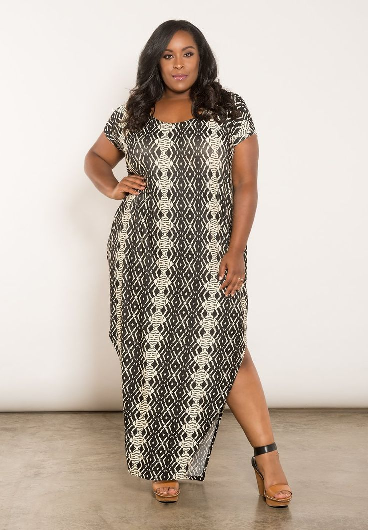 Classic plus size maxi dress in white by swak designs plus