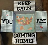 Keep Clam You Are Coming Home Illinois military care package decorated box