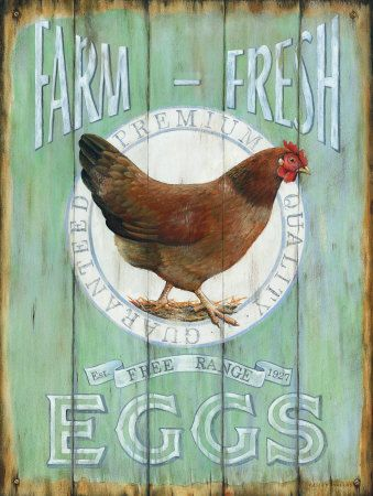 Would love a wooden sign like this for my kitchen, nothing says 'home' to me as much as brown hens. Probably because of my country life.