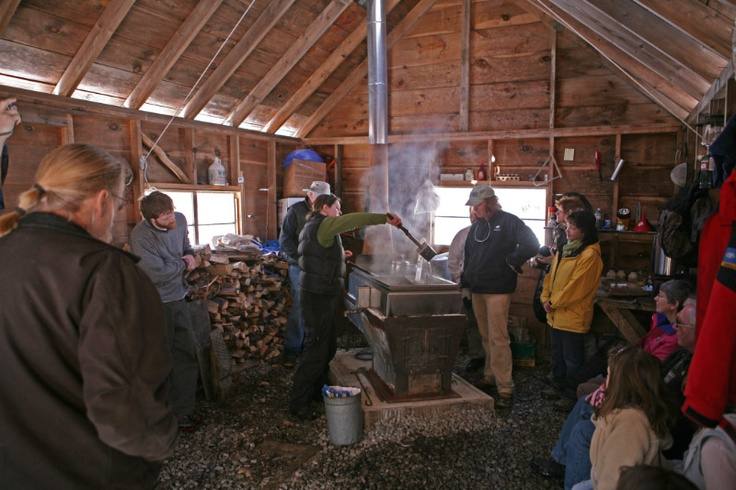 Inside the sugar house at Prescott Farm in Laconia, New Hampshire. Maple Madness details here: http://prescottfarm.org/education/maple-sugar-madness-starts-32/.