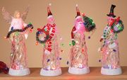"""11"""" Lighted Snowman, Angel or Santa Battery Operated Figures"""