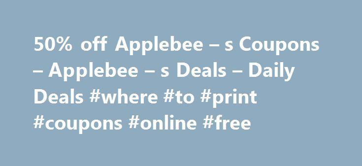 50% off Applebee – s Coupons – Applebee – s Deals – Daily Deals #where #to #print #coupons #online #free http://coupons.remmont.com/50-off-applebee-s-coupons-applebee-s-deals-daily-deals-where-to-print-coupons-online-free/  #applebees coupons # Applebee s Coupons Applebee's Coupons 2014 Nearly three decades ago, Applebee's opened a family oriented restaurant, focusing on quality food and great service. Their commitment to continuing the tradition of pleasing their guests, and offering…