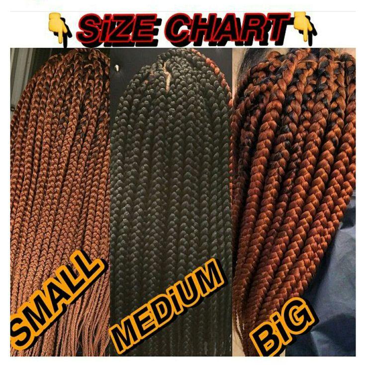 Box Braids Size Chart Ilyidella Box Braids Sizes