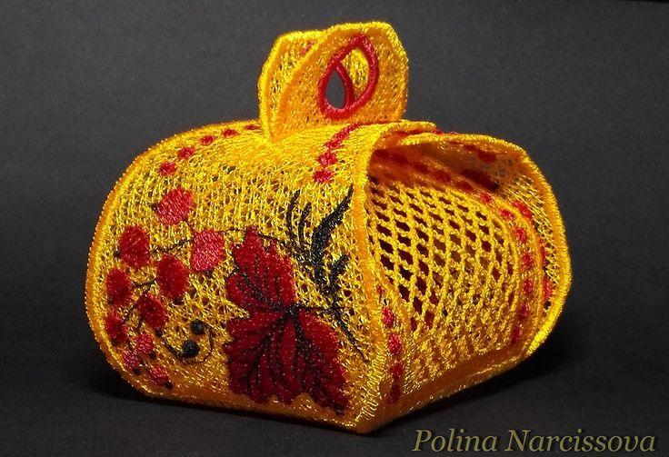 Пасхальная корзиночка. Дизайн Polina Narcissova (разработан по мотивам бумажных корзинок)