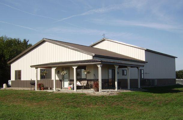 Pole Barn House - Lester Buildings Project #: 510342