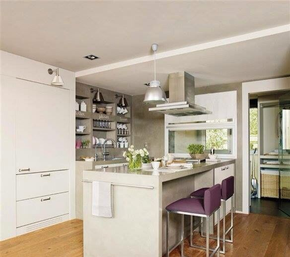les 14 meilleures images du tableau cocinas sur pinterest acier cuisines et maison pr fabriqu e. Black Bedroom Furniture Sets. Home Design Ideas