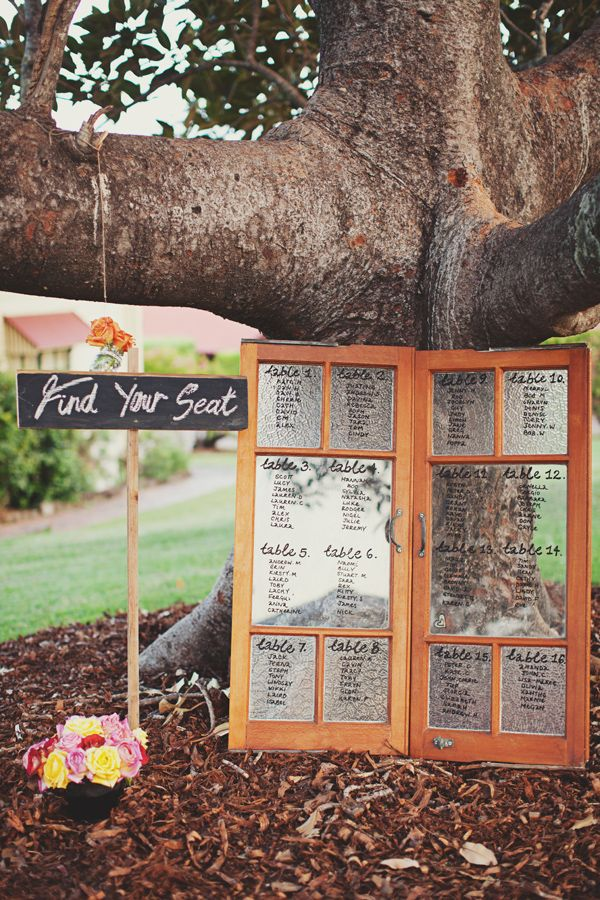 Grandchester, Australia Garden Wedding- Neat Idea: Find your seat