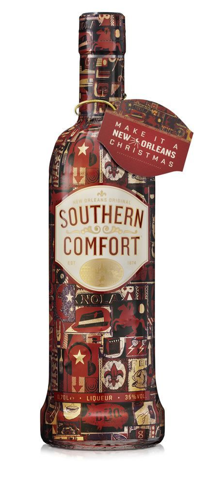 Southern Comfort – Limited edition Christmas wrapped bottle from Wax Communications