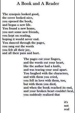 Whenever one has to read a book and then... well yeah it ends... and it hurts... a lot