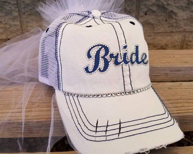 Bride Baseball Cap With Veil In 2020 Bachelorette Party Bride Team Bride Hats Bachelorette Party Hat