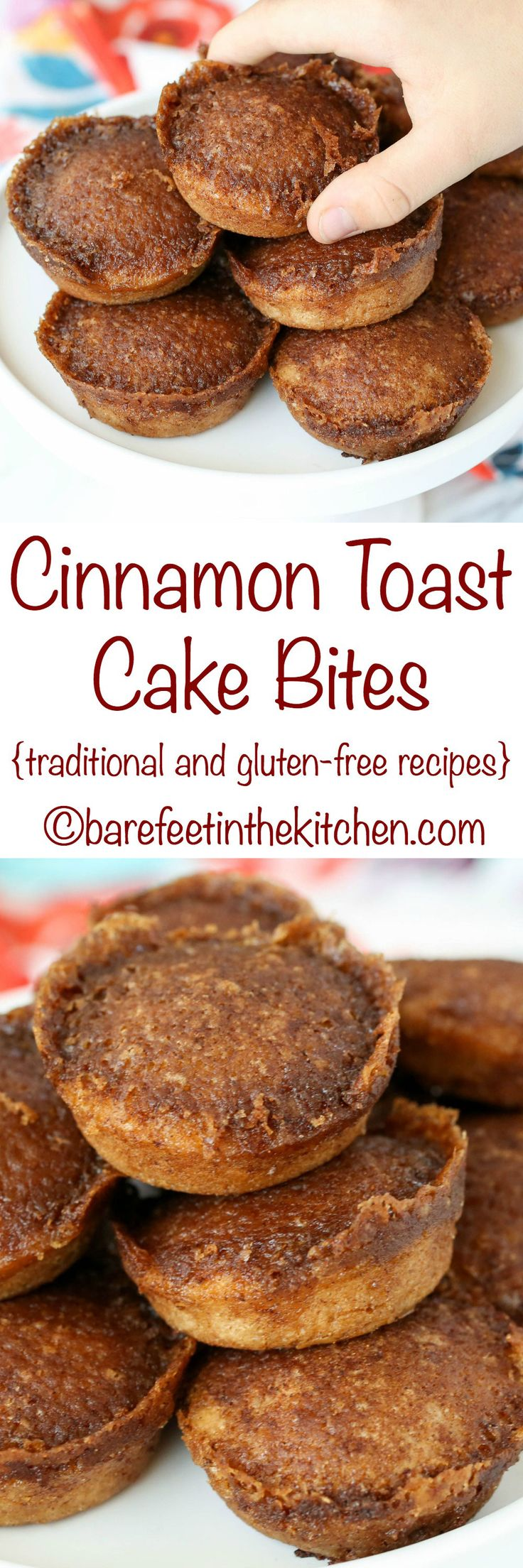 Cinnamon Toast Cake Bites are a favorite with kids and adults! #ad - Get the recipe at barefeetinthekitchen.com