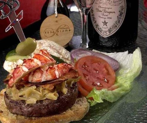 Kobe Beef and Maine Lobster Burger