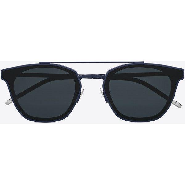 640d3de74c8 Saint Laurent Classic 28 Sunglasses ($445) ❤ liked on Polyvore featuring  accessories, eyewear, sunglasses, yves saint laurent, rounded sunglasses,  yves ...