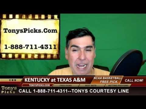 Kentucky Wildcats vs. Texas A M Aggies Pick Prediction College Basketbal...