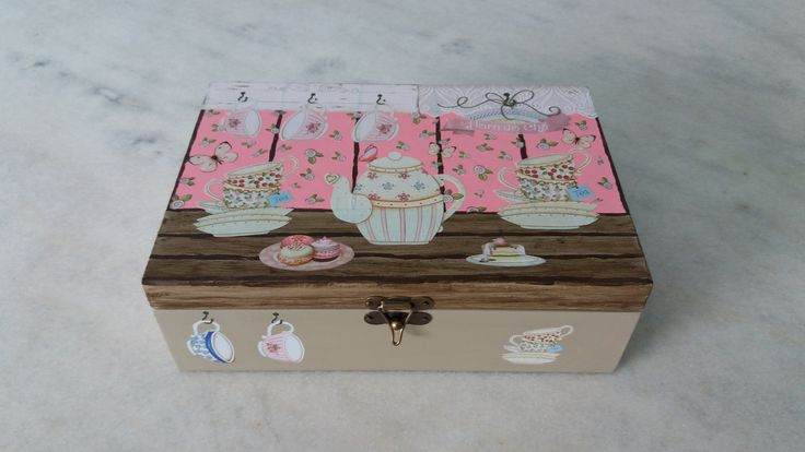 Caixa para chá    www.elo7.com.br/esterartes