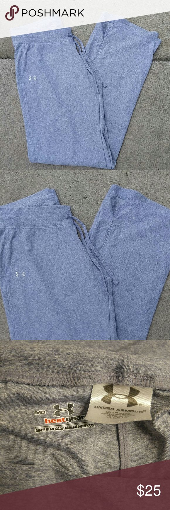 Blue gray Under Armour Athletic Pants size medium Perfect condition in a heathered blueish gray athletic pants by Under Armour in size Medium Under Armour Pants Track Pants & Joggers