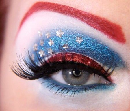Captain AmericaWonder Women, Eye Makeup, Captainamerica, Fourth Of July, Captain America, 4Th Of July, Eyemakeup, Makeup Design