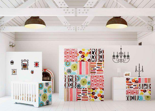 Habitación Bebé con cuna Vintage