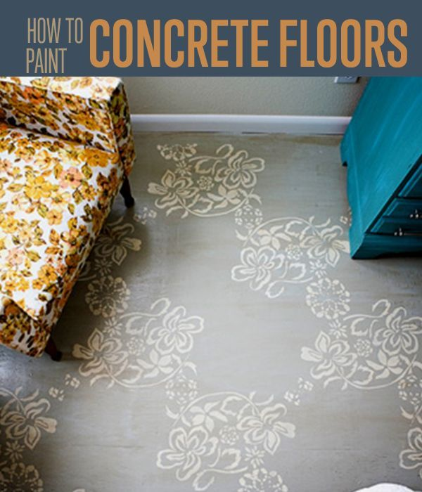 How To Paint A Concrete Floor   DIY Basement Ideas For Painting A Concrete Floor Design Ideas For Outdoors And More By DIY Ready. http://diyready.com/how-to-paint-a-concrete-floor/