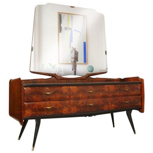 Mid Century Modern Osvaldo Borsani Chest of drawers Commode Dresser with mirror