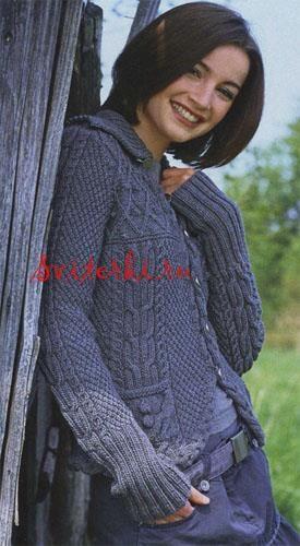 Ручное вязание женские жакеты
