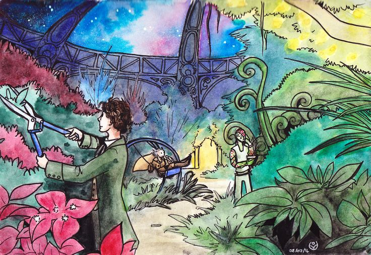 TARDIS garden by JohannesVIII.deviantart.com on @DeviantArt